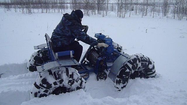 Как сделать мотоблок по снегу 620