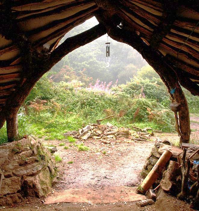 Дом в лесу похожий на домик Хоббитов