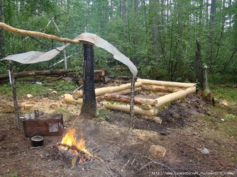 Как мы построили зимовье в лесу