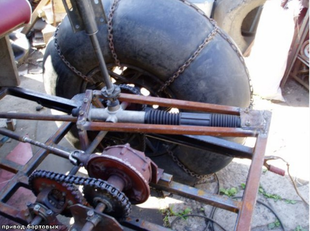 Каракат переломка 4*4 с двигателем СЗД