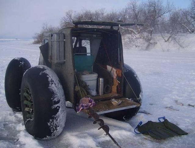 Легкий каракат для зимней рыбалки