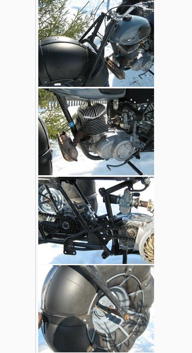 Легкий каракат с двигателем от мотороллера