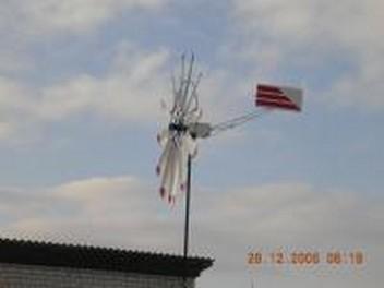 Много-лопастной ветрогенератор на основе автогенератора