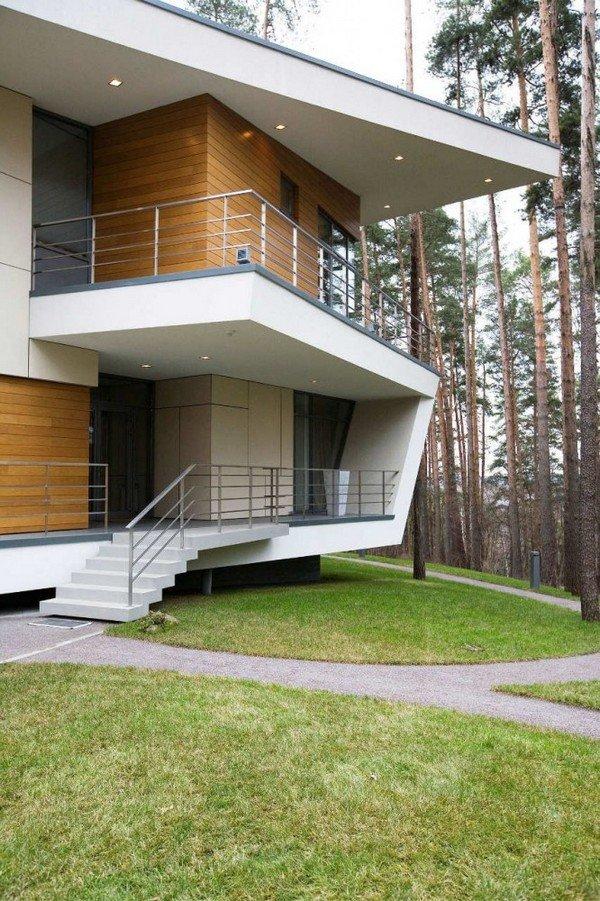 Необычный дизайн и красота загородного дома