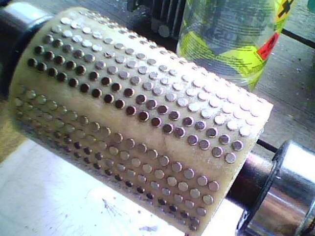 Переделка ротора генератора на магниты