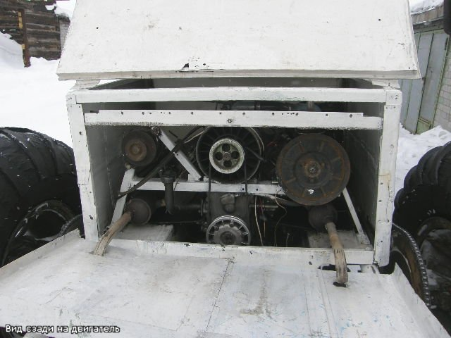 Плавающий вездеход-снегоход 6*4