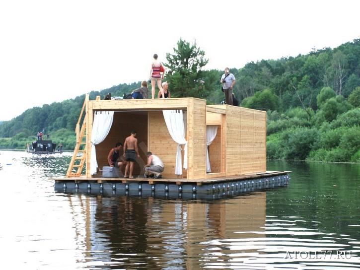 Плавучие домики на воде, фото