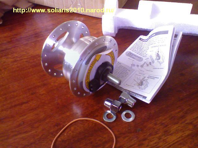 Походный ветрогенератор на основе велосипедной динамо втулки