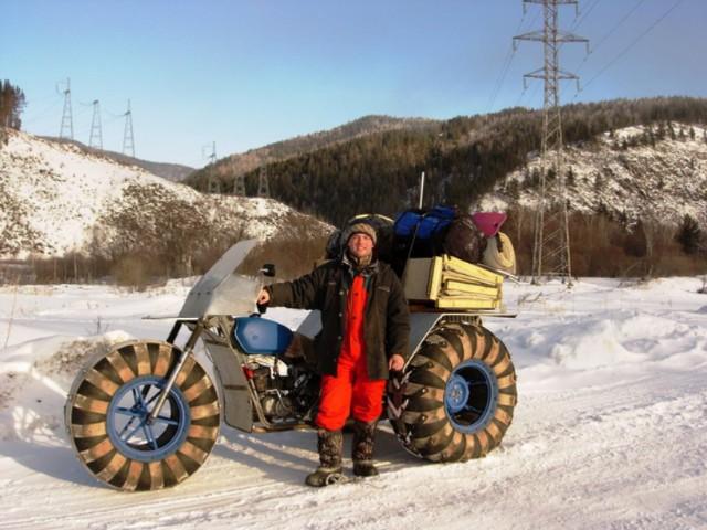 Простой каракат с двигателем от мотороллера