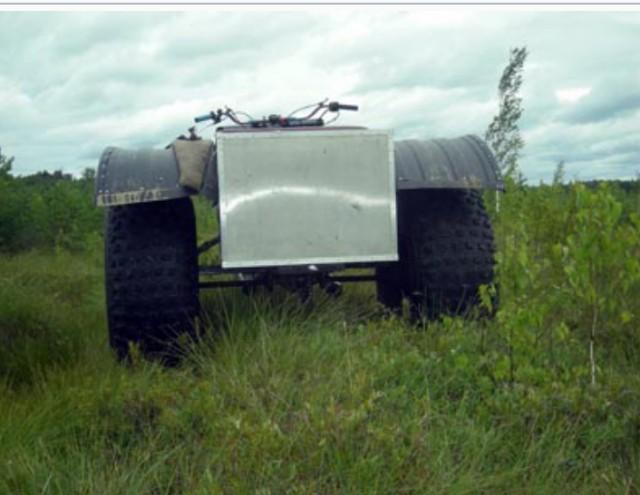 Трехколесный каракат с планетовским двигателем