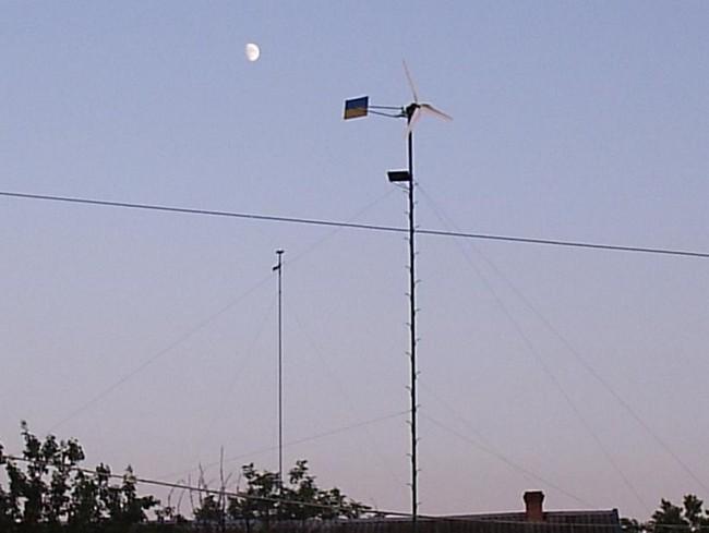 Установка мачты и монтаж ветрогенератора