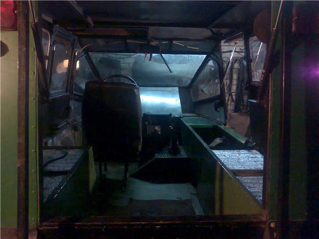 Вездеход с двигателем от Оки на мостах УАЗ